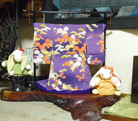 紅葉と菊の着物