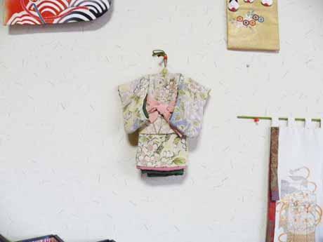 桜柄の二重着物